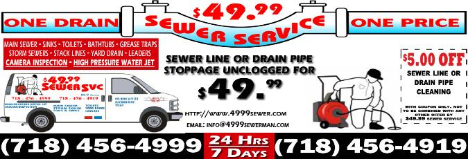 $5.00 OFF coupon. Print it to get additional savings on your next sewer and drain cleaning service.